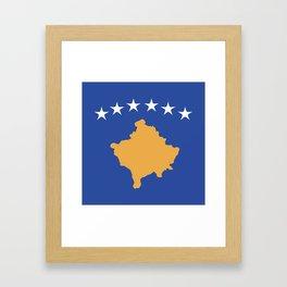 Kosovo flag emblem Framed Art Print
