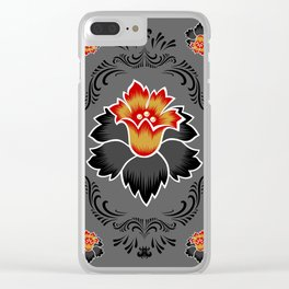 Abstract floral ornament Clear iPhone Case