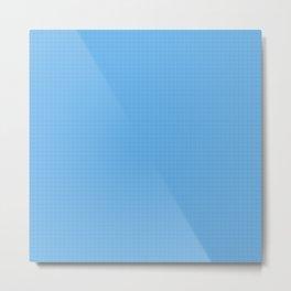 grid on blue Metal Print
