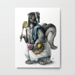 Portrait of Mr. Skunk Metal Print