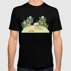 picking mushrooms Black MEDIUM Mens Fitted Tee