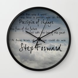Step forward - clouds Wall Clock