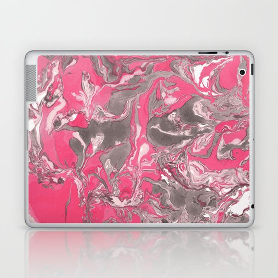 Pink and gray Marble texture acrylic paint art by maria_so