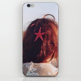 seaside girl iPhone Skin