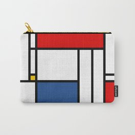 Mondrian color pattern Geometric Red Yellow Blue Carry-All Pouch