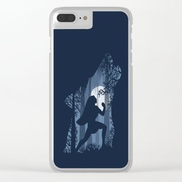 Pocahontas and the wolf Clear iPhone Case