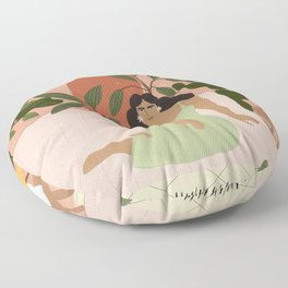 Life With Plants Floor Pillow