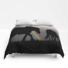 Silhouette of Color Comforters