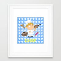chef Framed Art Prints featuring Chef by Alapapaju