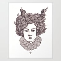 aries Art Prints featuring Aries by Samantha Dolan
