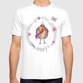 General Flapalot Watercolour Robin Illustration  T-shirt