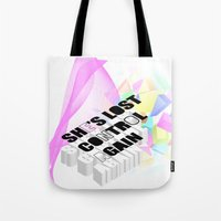 joy division Tote Bags featuring Joy or Division? by minnie's got a girlfriend