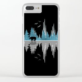 The Sounds Of Nature - Music Sound Wave Clear iPhone Case