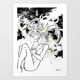 Inktober : Galaxy Art Print