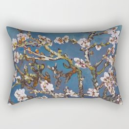Vincent van Gogh Pink Blossoming Almond Tree (Almond Blossoms) Rectangular Pillow