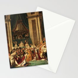 Consecration of the Emperor Napoleon and the Coronation of Empress Josephine In Notre-dame De Paris, 1804 by Jacques Louis David Stationery Cards