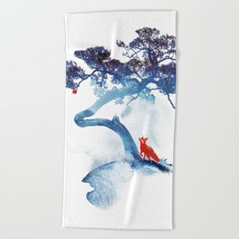 The last apple tree Beach Towel
