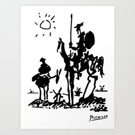 Pablo Picasso Don Quixote 1955 Artwork Shirt, Reproduction Art Print