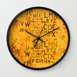 Letters for Jay (Yellow Abstract) Wall Clock