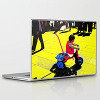 cycling Laptop & iPad Skins featuring Cycling by lookiz