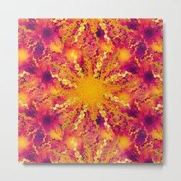 Summer Heat golden sun Metal Print