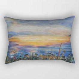 Sunrise over the Sea of Galilee Rectangular Pillow