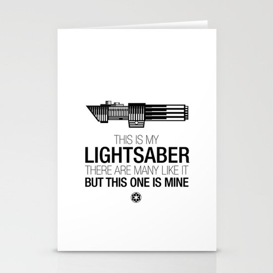 This is my Lightsaber (Vader Version) Stationery Cards