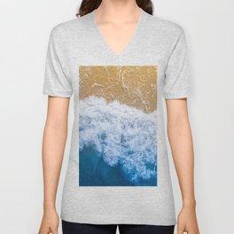 Ocean blue sand brown Unisex V-Neck