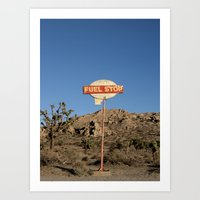 pocket fuel Art Prints featuring Fuel Stop by Shy Photog