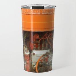 Orange Tractor Abstract Travel Mug