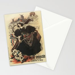 The rabid cow parade Paris 1897 Stationery Cards