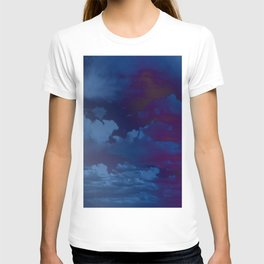Clouds in a Stormy Blue Midnight Sky T-shirt