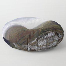 Mount Snowdon, Snowdonia, Wales Floor Pillow