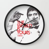 scarface Wall Clocks featuring SCARFACE by I Love Decor