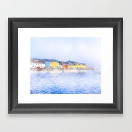 Misty Morning On The Shores Of Galway Ireland Framed Art Print