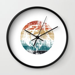 Wolf Head Wall Clock