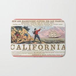 Vintage poster - California Bath Mat
