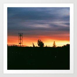 June Sunset Art Print