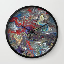 Abstract Oil Painting 28 Wall Clock