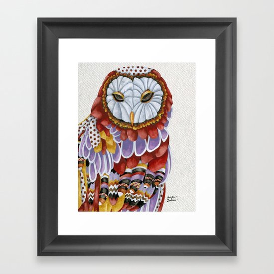 Owl Aura 2 Framed Art Print