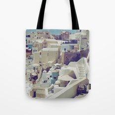 Streets of Santorini II Tote Bag