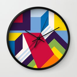 Abstract modern geometric background. Composition 13 Wall Clock
