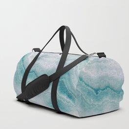 Sea green marble texture Duffle Bag