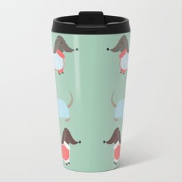 Sausage Dogs in Jumpers Travel Mug