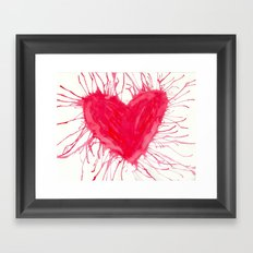 heartbeat Framed Art Print