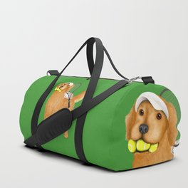 Ready for Tennis Practice (Green) Duffle Bag
