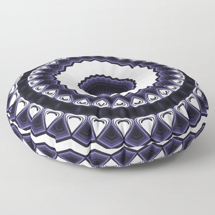 Design Mandala Pattern Circular Floor Pillow