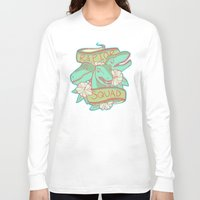 trex Long Sleeve T-shirts featuring Raptor Squad by Charleighkat