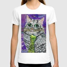Cat & Fish Tie T-shirt