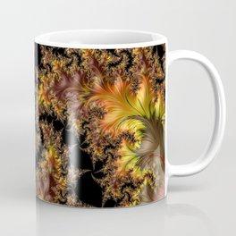 Autumn Leaves yellow brown orange Fractal Coffee Mug